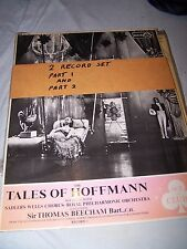 The Tales of Hoffmann (2 records) Sadlers Wells Chorus, Royal Philharmonic Orch