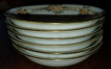 Antique Set of 6 Morimura Bros Nippon Hand Painted Gilt Dessert / Berry Bowls