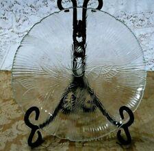 "Set of 2 Vintage Arcoroc France Canterbury Crocus Glass 7 3/4"" Salad Plates"