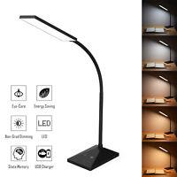 Flexible USB Touch Sensor Desk Lamp Led Reading Light 5 Modes 7 Brightness