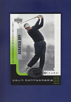 Colin Montgomerie HOF 2001 Upper Deck UD Golf E-Card (Unscratched) #E-CM (MINT)