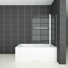 1000x1400mm Pivot Bath Shower 6mm EasyClean Glass Screen With Shelve&Towel Rail