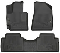 Husky Liners fit 2014-2018 Kia Soul Front and Rear Floor Mats WeatherBeater Blac