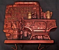 Vintage Chalkware Kitchen Plaque Key Holder Miller Studio 1974
