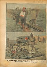 Soldiers Tommies British Army Red Cross Croix Rouge Iraq WWI 1918 ILLUSTRATION