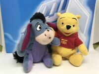 Bundle Of 2 MINI Disney Winnie The Pooh Beanies Soft Toy Plush Teddy Eeyore X 2