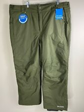 NWT Columbia Green Bugaboo 2 Pants Snowboard Pants Waterproof Breathable Sz XXL