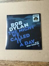 Bob Dylan-The Night We Called It A Day 7 Inch Blue Vinyl RSD2015 Sealed