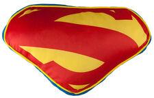 Superman Cushion Decorative Pillow Superhero Man of Steel Shield Emblem Logo New