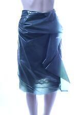 MARC JACOBSRuffled silk-lined plastic skirt - Milky Green - Size 8 NWT