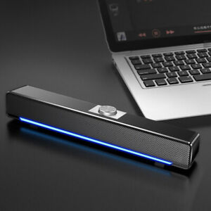 Bluetooth USB Wired Speaker Stereo Bass Loudspeaker Volume Control For PC TV