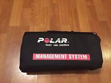 12 Polar Heart Rate Monitors Group Monitor Management System W/ Storage Bag