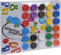 Giant Mega 62 Piece Play Craft Dough Set Gift Set Tubs And Shapes Toy Hobby
