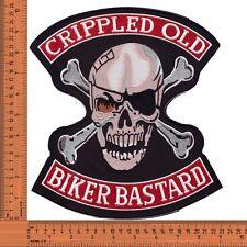 Crippled Old Biker Bastards Large Embroidered Jacket Back Patch / Badge