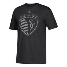 Sporting Kansas City Mls Adidas Men's Metallic Primary Black T-Shirt