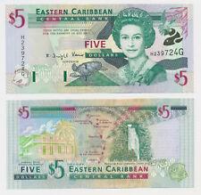 EAST CARIBBEAN STATES  Grenada 5 Dollars Karibik $  (1 ) / Unc Banknote  ( 793
