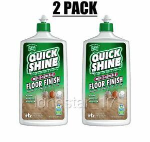 Lot of (2) QUICK SHINE Multi-Surface Floor Finish Hardwood 27 Fluid Ounce Bottle