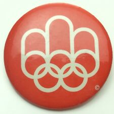 1970 Canada Montreal Olympic Canadian Pin Back Button C756