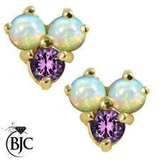 Orecchini di lusso con gemme naturale tondi ametista