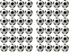 48 x Edible Rice Wafer Paper Football Birthday Cupcake Cake Toppers