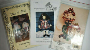 Group of 3 Doll Patterns