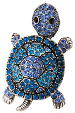 Wiggle turtle stretch ring silk scarf clasp jewelry gifts women 1 silver gold
