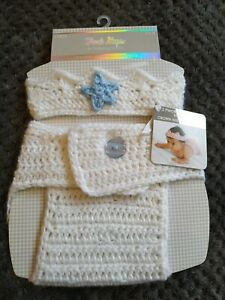 First Steps By Stepping Stones Baby Crown & Nappy  Crochet Set 0-6 Months BNWT