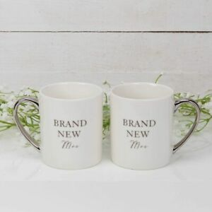 Brand New Mrs & Mrs Mugs by Amore in presentation box. Wedding/Present/Couple