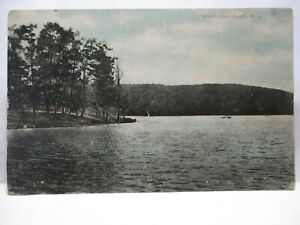 "1910 NICHOLLS CO NEWTON NJ POSTCARD "" MORRIS LAKE, SPARTA NJ """