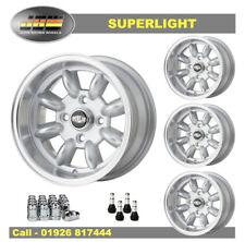 7x 13 Superlight Plato Hondo ruedas de 4 X 98 Fiat PCD conjunto de plata 4