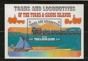 TURKS & CAICOS Sc 554 NH issue of 1982 - SOUVENIR SHEET - TRAIN