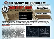 SANDLESS SELF INFLATING SAND BAGS -  Home Flood Defence Protection (PACK OF 5)