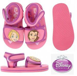 Kids Girls Toddlers PRINCESS Pink Summer Beach Flip Flops Shoes 1Velcro Sandals
