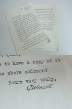 Author Glenway WESCOTT (1901-1987): Typed & signed letter VILLEFRANCHE sM 1927