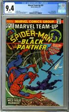 Marvel Team-Up #20 (1974) CGC 9.4 White Pages Spider-Man Black Panther