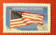 3508 Honor/Veterans 9 Panes & Plate Positions 180 Stamps 34 Cent Usps Pkg Org