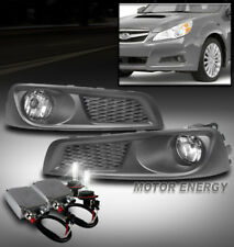 FRONT BUMPER DRIVING FOG LIGHTS LAMPS CHROME W/50W 6K HID+BEZEL FOR 10-12 LEGACY