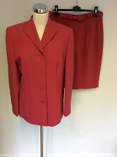 NEW GERRY WEBER CORAL JACKET & STRAIGHT SKIRT SUIT SIZE 14/16