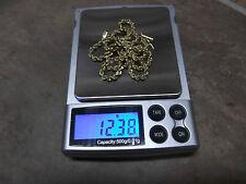 "Solid 14 karat gold 18""x 2.5 mm handmade diamond cut rope necklace"