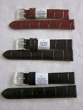Yaounde Uhrenarmband Veau Grain Alligator Leder 18mm 3 Stück verschiedene Farben