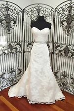 366W IMPRESSION 10299 sz 12 IVORY CHAMP STRAPLESS $1635 WEDDING DRESS GOWN NWT