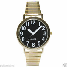 Low Vision Watch - White Numbers, Black Face, White on Black, Large Numbers
