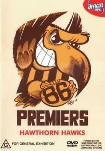AFL: 86 PREMIERS - HAWTHORN HAWKS (1986, DVD) Brand new sealed, free post!