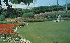Flower Gardens Kenora Ontario Postcard Canada Canadian Pacific RR Station