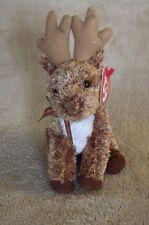 Ty Beanie Babies Rooftop Reindeer Plush Bean Bag Stuffed Animal Nwt