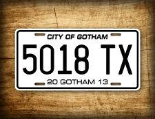 Batman City Of Gotham License Plate Dark Knight Replica Movie Auto Tag Batmobile