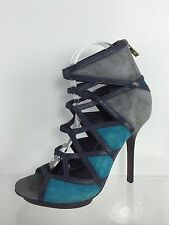 Tory Burch Womens Gray/Multi Color Leather Heels 7 M