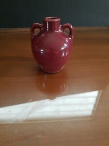 Zanesville Stoneware Uhl Pottery Red Mini Jug