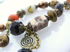 Bettelarmband Damen Armband Keramikperlen Metallperlen