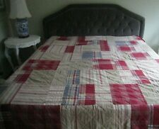 Vintage~Woolrich Home Corduroy / Flannel, Plaid / Striped, Patchwork Queen Quilt
